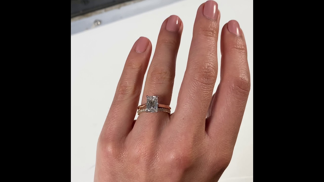 2.5 carat Hybrid Step Cut Yellow Gold Ring