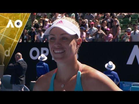 Angelique Kerber on court interview (3R) | Australian Open 2017