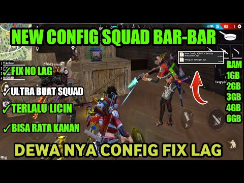 CONFIG MODE BAR BAR !!! FIX LAG FREE FIRE-- FULL CARA MENGATASI FREE FIRE LAG DI RAM 1GB - 동영상