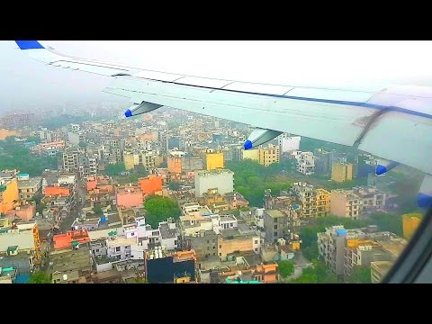Indigo Flight Landing at New Delhi Indira Gandhi International Airport..