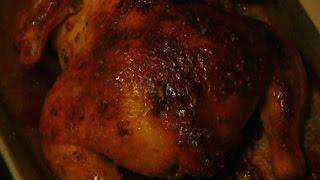 Курица в медово-чесночном соусе запеченная в духовке