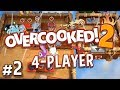 Overcooked 2 - #2 - SECRET KEVIN LEVELS! (4 Player Gameplay)
