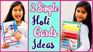 2 Holi Card Making|Handmade Holi Card Idea 2019|for kids| Aishmin Diy