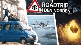 Building a ROADTRIP-VAN in 2 days! | Building an IGLU and bathing in the ICE!