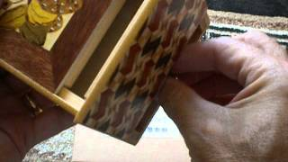 5 Sun 10 Step Strawberry Japanese Puzzle Box With Hidden Drawer Spoiler!
