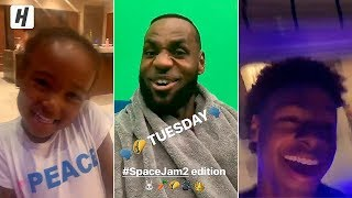LeBron James on Space Jam 2 Set Celebrating Taco Tuesday with His Kids!