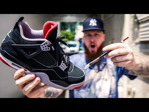 00ec3a7886fd31 HOW TO MAKE THE NIKE AIR JORDAN 4 BRED EVEN BETTER FOR  10!