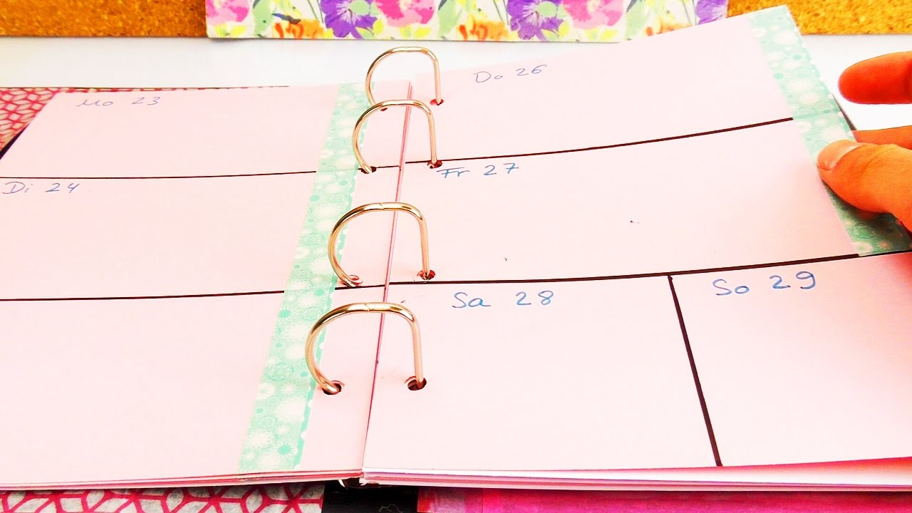 diy kalender selber machen teil 4 planer gestalten und seiten einteilen youtube. Black Bedroom Furniture Sets. Home Design Ideas