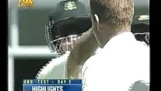 Rahul Dravid incredible dismissal vs Shaun Pollock 2001/02 2nd test