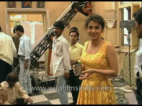 Juhi Chawla - The Bollywood Actress In Her Younger Years, On Set