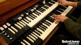 retrolinear hammond a100 organ with joe pantano