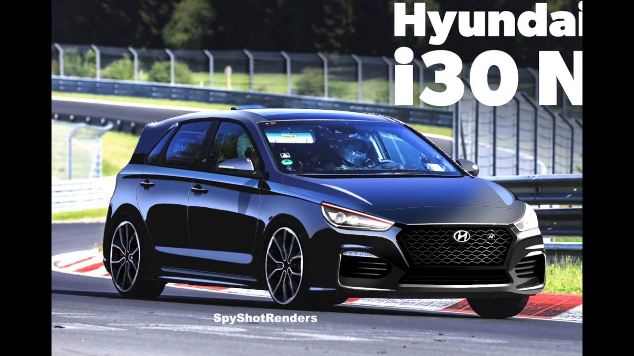 2018 Hyundai I30 N Spy Shot Render Preview Elantra GT N