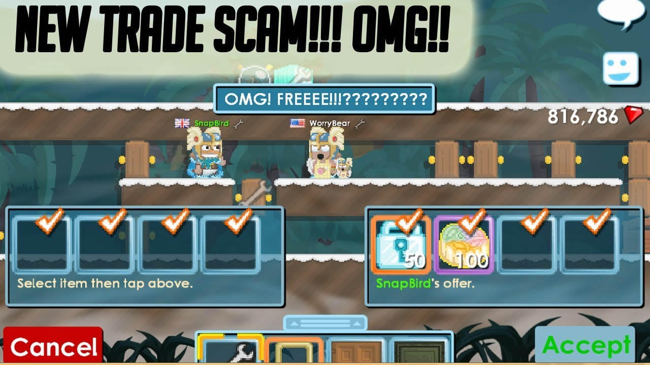 Growtopia | New scam trade! ** MUST WATCH**