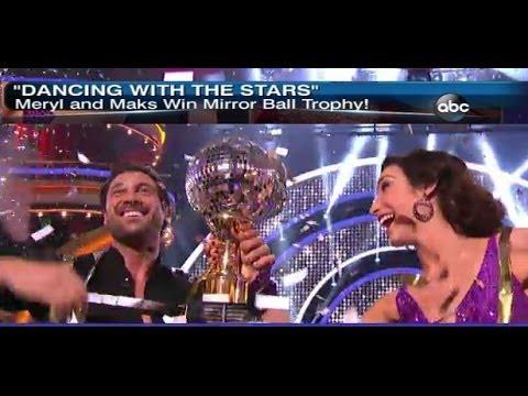 Meryl Davis and Maks Win Dancing With The Stars Season 18 DTWS Interview GMA