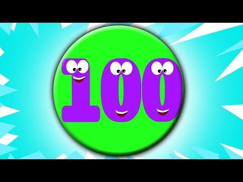 Numero Canzone 1 a 100  Cartoon per i bambini  compilazione  Video educativi  Number Song 1-100