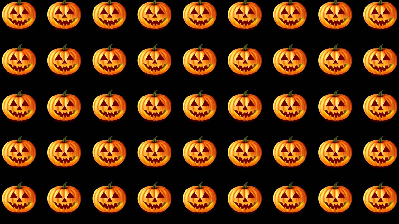 pumpkin pattern motion halloween video background - Halloween Background Video