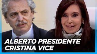 BOMBAZO. Asi, Cristina anuncio que Alberto Fernandez sera candidato a presidente y ella su ...