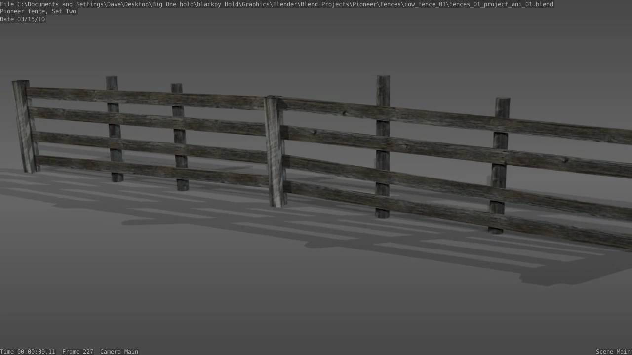 Old wooden cow fence 3d model demonstration youtube for 3d fence