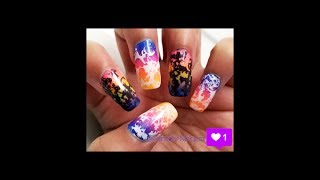 Lisa Frank Ombre Inspired Nail Tutorial
