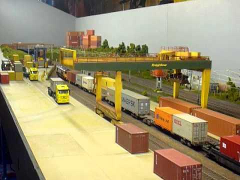 Warren Lane Rail Freight Terminal Youtube