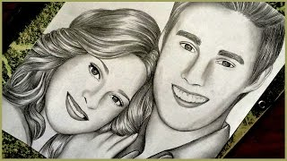 Drawing Martina Stoessel and Jorge Blanco | Violetta