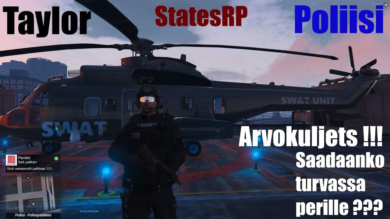 StatesRP: Kaupungissa tapahtuu !! Arvokuljetus! Ehditäänkö turvallisesti perille ???
