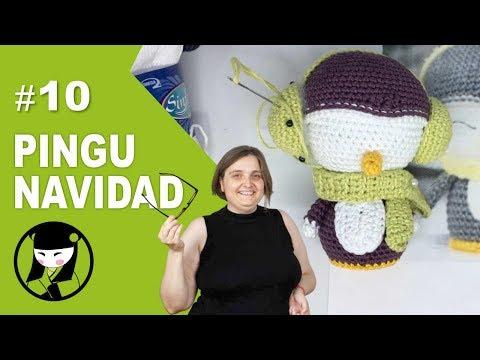 pinguino navideño a crochet 10 amigurumis navideños