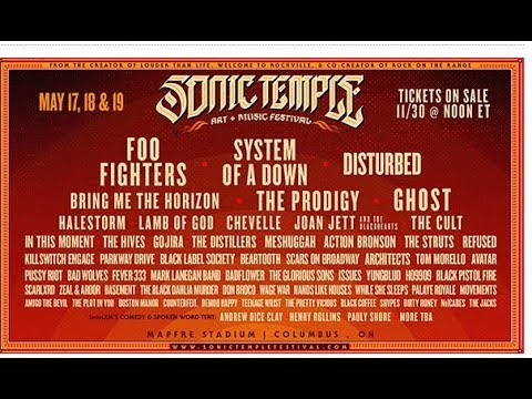 Sonic Temple Art + Music Fest 2019 - System/Lamb/Ghost/Foo Fighters and more..!