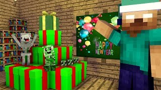 monster school : Happy New Year many gifts!!  Minecraft Animation