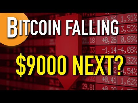 BITCOIN PRICE FALLING - $9000 Pull Back Next?