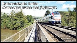 Bahnverkehr beim Wasserschloss der Schweiz / Windisch, Aargau