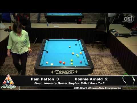 Pam Patton vs Bonnie Arnold Women's Master Singles Finals