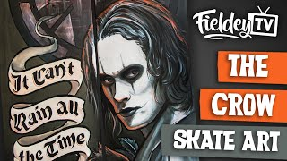 The Crow tribute art - skateboard art speed painting with Brandon Lee