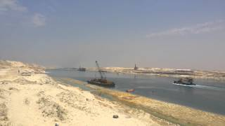 New navigation in the Suez Canal, June 2, 2015