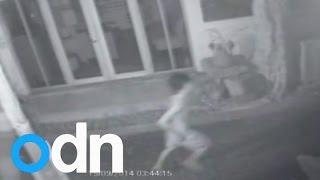 CCTV footage of