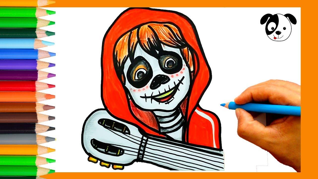 Miguel Coco Para Colorear: COCO DISNEY-Cómo Dibujar Y Colorear A Miguel-Dibujos Para