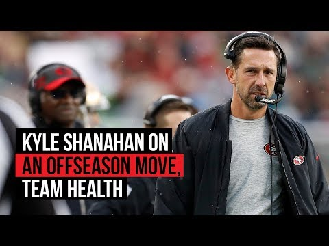 Kyle Shanahan discusses franchise tagging Robbie Gould, running back health