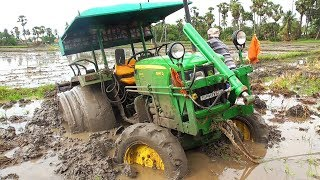 "CRAZY ""John Deere"" 5045D Stuck In DEEP MUD 