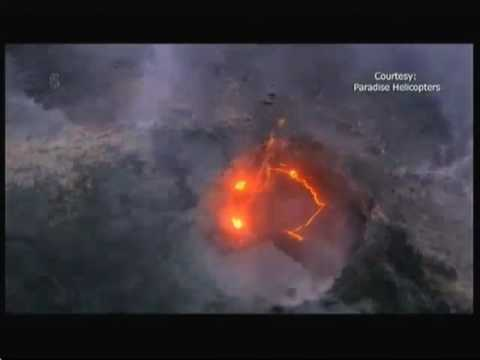 Smiley Face In The Lava (Hawaii) - 5 News - 29th July 2016