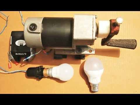 Amazing high energy DC Generator 220v DIY charge phone, light bulbs