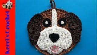 Crochet Dog Potholder Tutorial