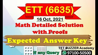 ETT 6635   Math Detailed Solution with Proofs   Exam Held on (16-10-2021)   TET BUZZER Academy screenshot 5