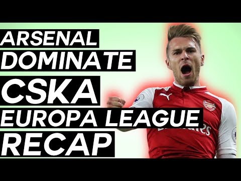 Ramsey scores a worldy in arsenal rout of cska! - uefa europa league quarter-finals review