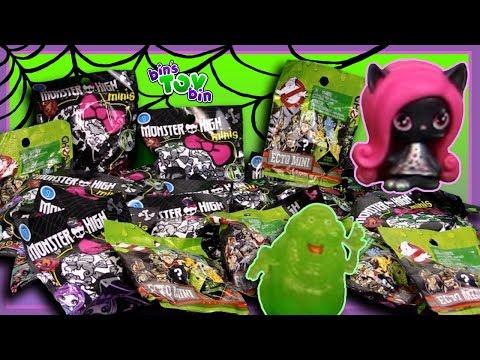 GHOSTS and MONSTERS! Spooky Blind Bags! | Bin's Toy Bin