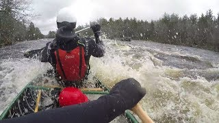 Early Spring Whitewater - Sunk the Canoe!!!