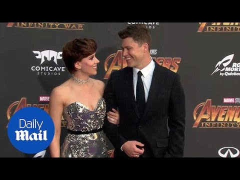 Scarlett Johansson & Colin Jost Make Their Red Carpet Debut at the Avengers: Infinity War Premiere