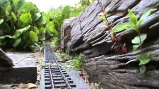 Garden railway live steam Accucraft Lawley Odd job running on the MTLR