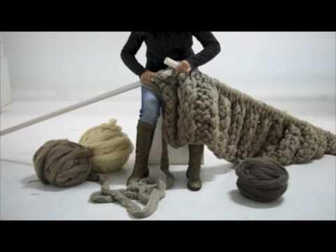Tutorial c mo hacer mantas xxl youtube - Lana gorda para mantas ...