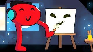 AJUDEI UM GRANDE ARTISTA A PINTAR UM QUADRO! - Desenho de papel #02