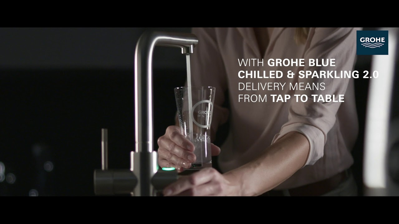 grohe grohe blue chilled sparkling 2 0 faucet product video